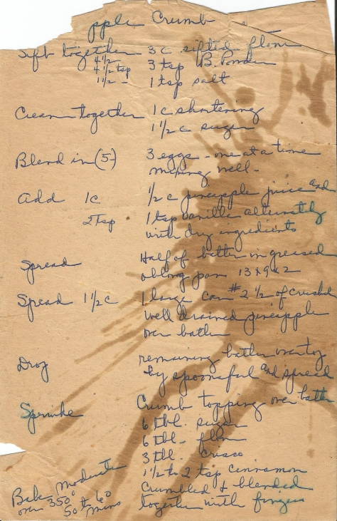 Old Handwritten Recipes